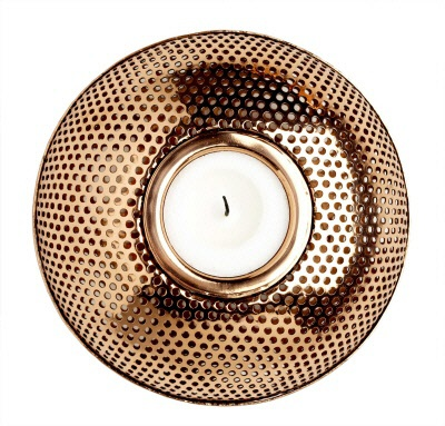 Freshcut Interiors -  Copper Candle Holder $36.00