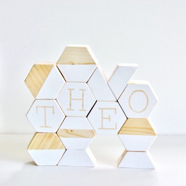 Hexagon Stacking Blocks -  Babee and me