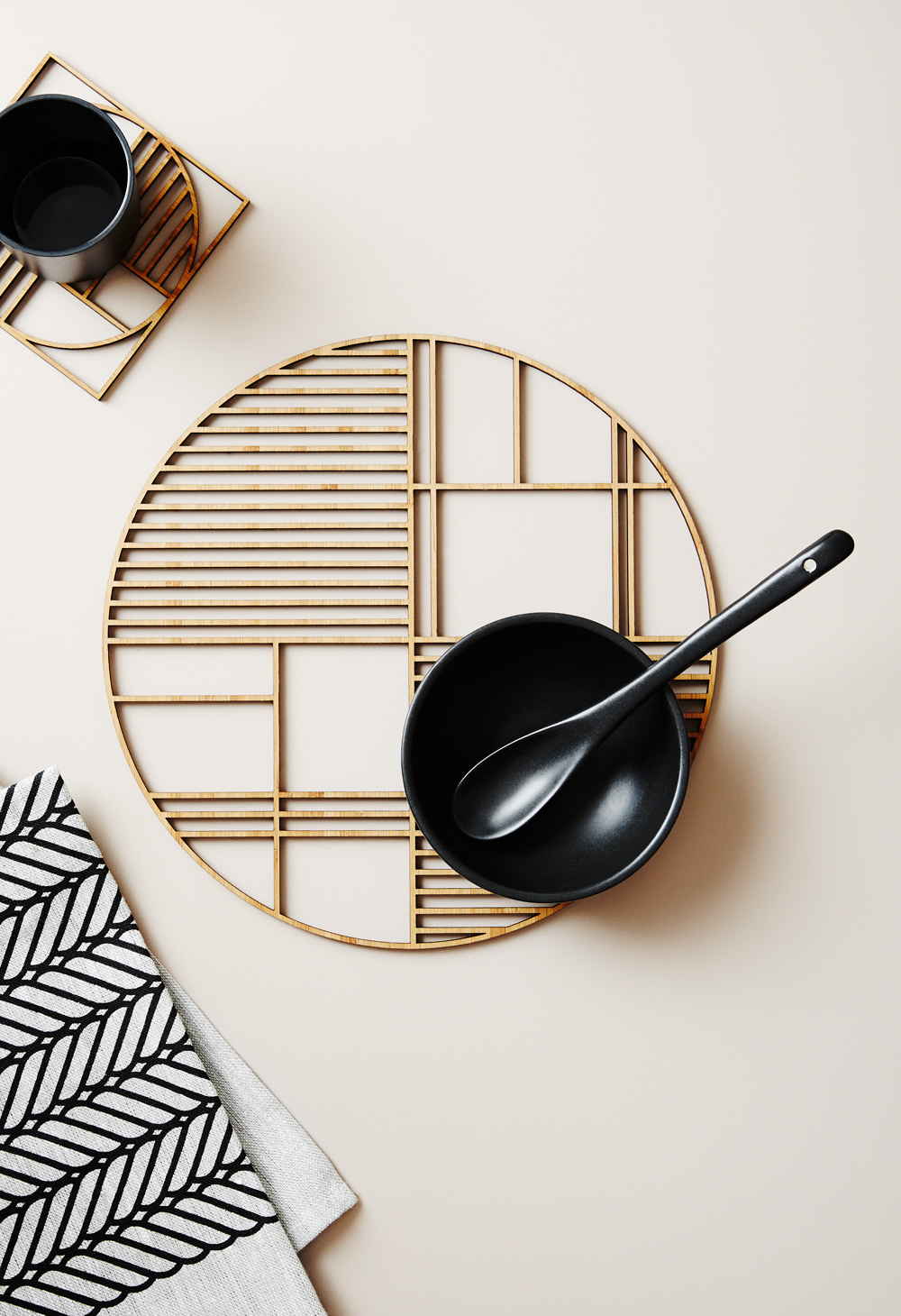 Deco Large Luxury Bamboo Trivet