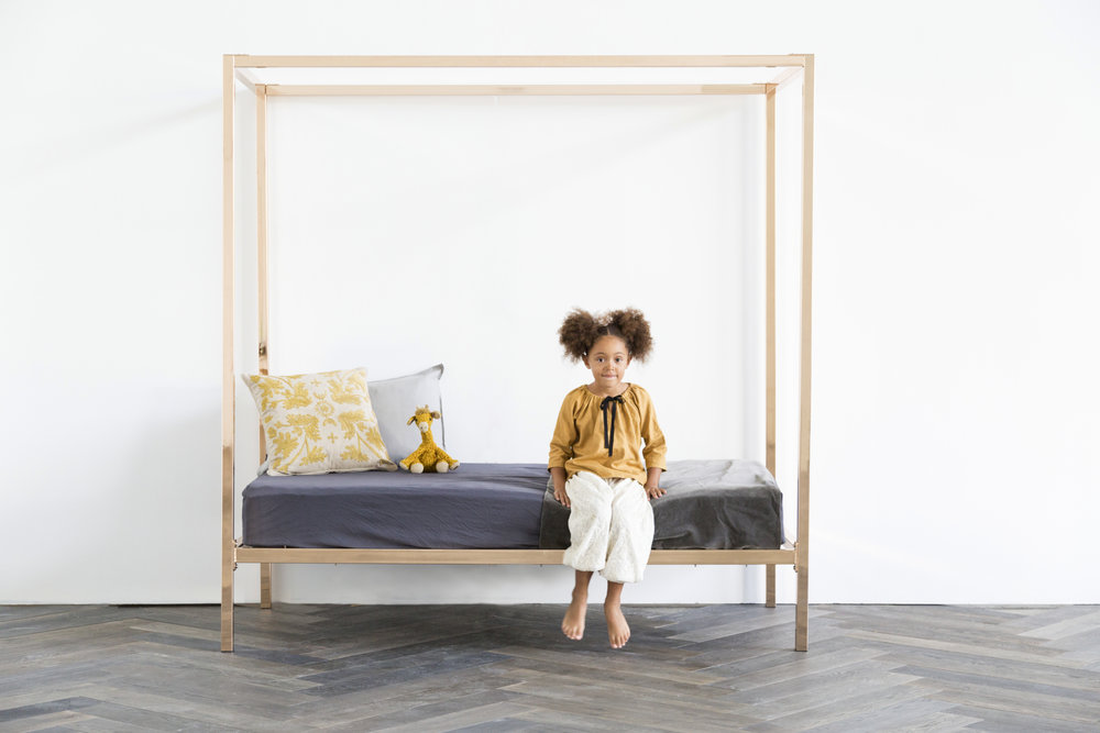 Copper fourposter bed Incy Interiors