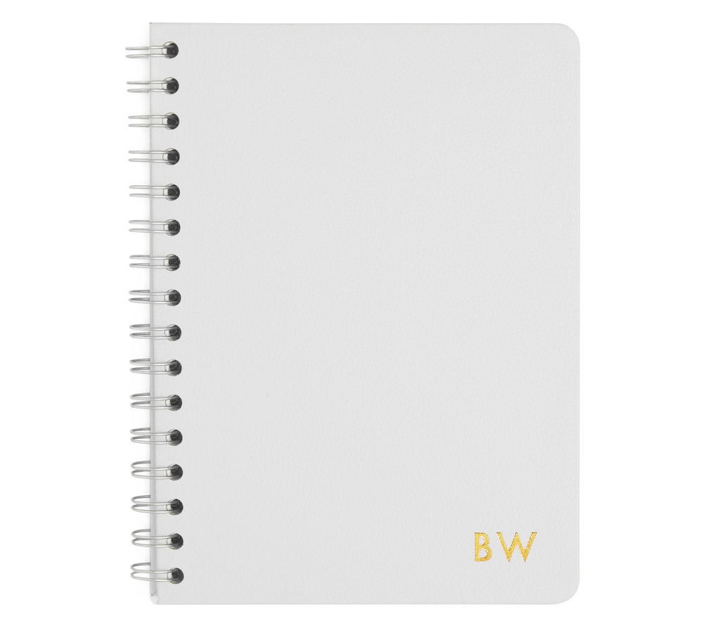 Grey leather Notebook
