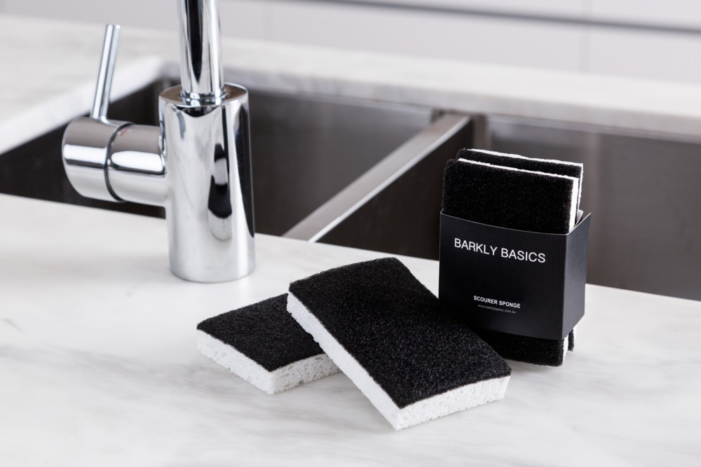 Black and White Scourer Sponge