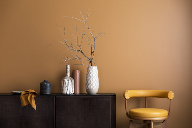 Haymes Interior Expressions low sheen acrylic in Deep Buff - part of the 'Strata' collection