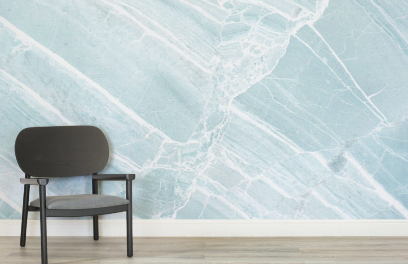 Teal Scraped Marble