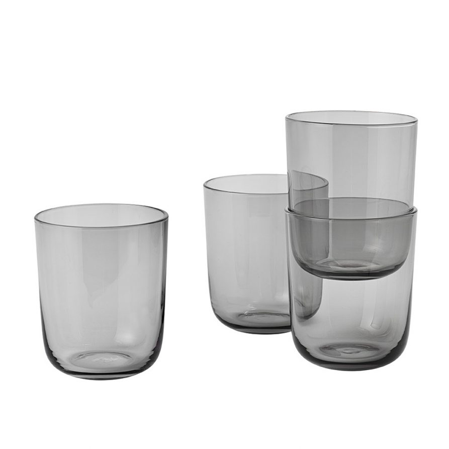 Corky Drinking Glasses Grey -  Lightly Design $85.00