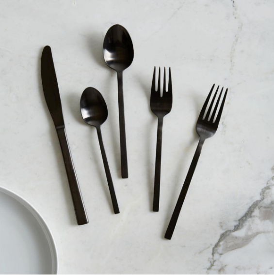 Black Cutlery -  West Elm $49.95
