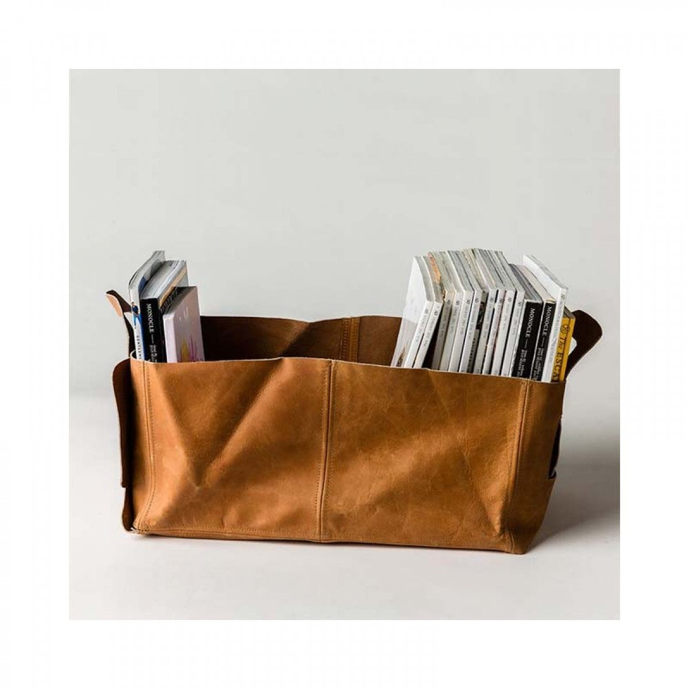 Leather Holdall Storage -  Life Interiors