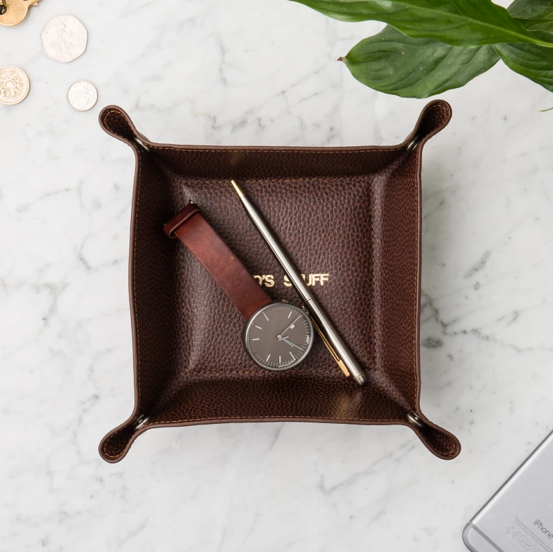 Leather Desk Tidy  - Hard to Find