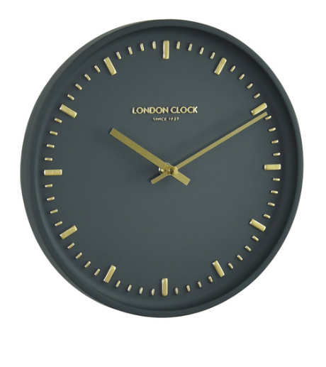 Arto Charcoal Wall Clock - The Super Cool