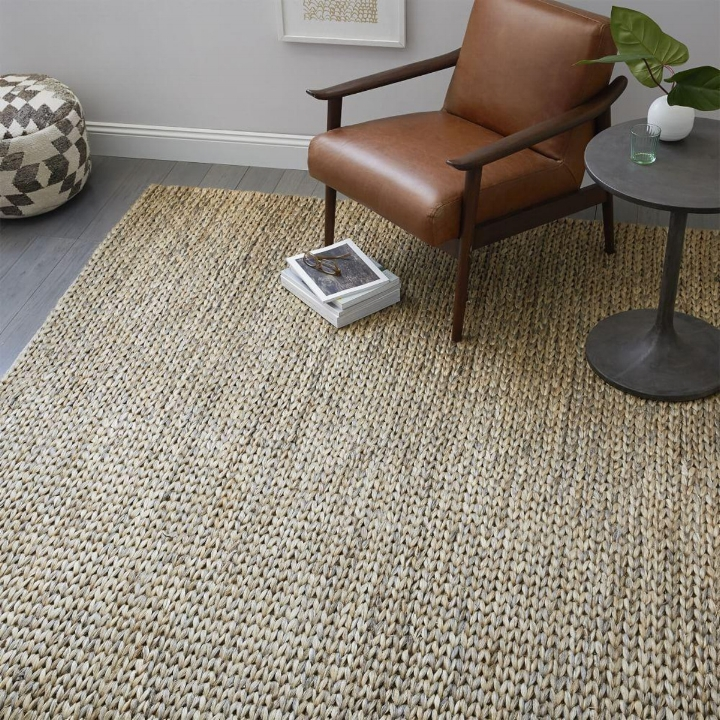 West Elm - Tonal Braided Jute - Platinum