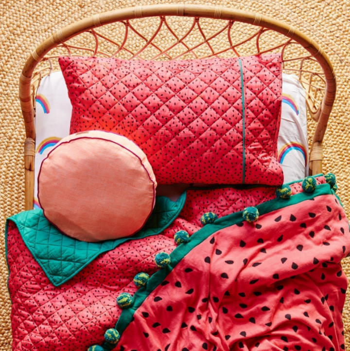 Kip & Co - Watermelon Quilted Bedspread