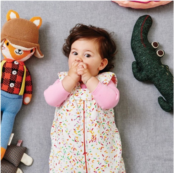 SS17 KIP&CO SPRINKLES RAINBOW SLEEP SACK