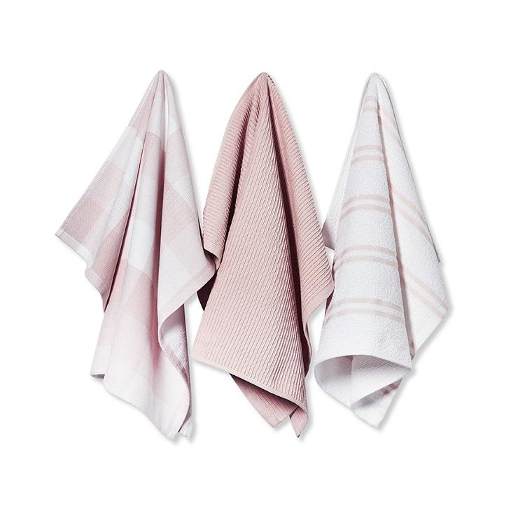 Adairs |Mercer + Reid Essential Check Tea Towels Pink - From $16.99
