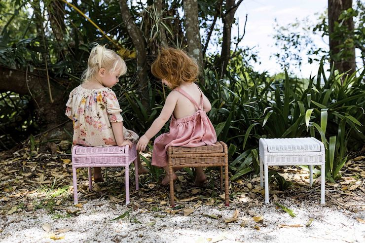 STORIE STOOL  | A little seat of wonder! The Storie stool is a rattan seat, handwoven, with a hidden storage compartment for toddlers and children to store all their favourite toys, books and treasures.