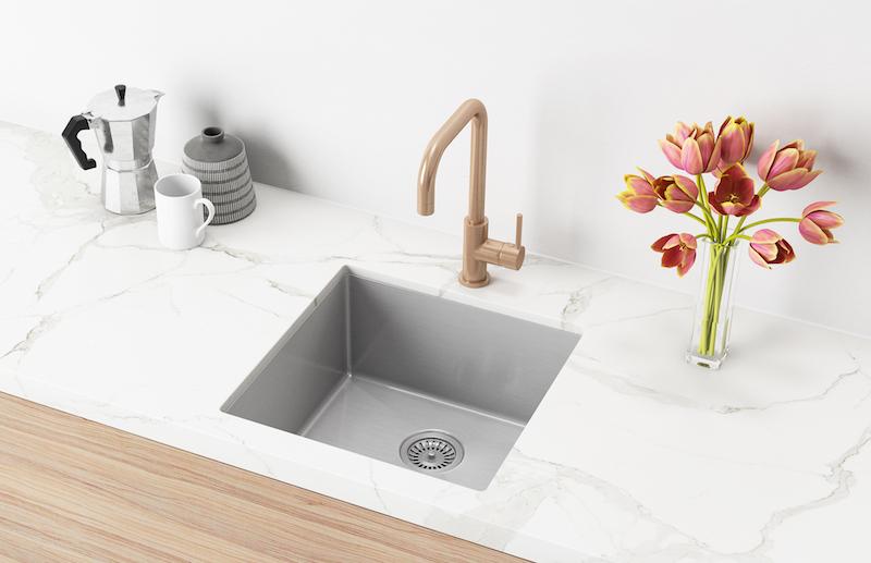 Scratch resistant sinks by Meir Australia.