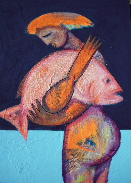 """The Last Snapper""  36 x 48  Acrylic on Canvas    SOLD"
