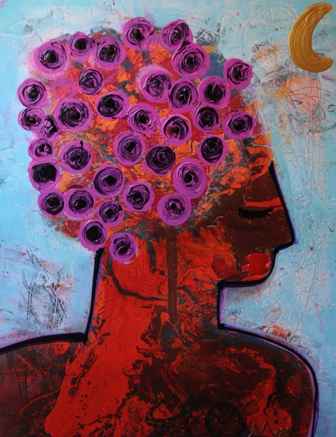 """Rosarita"" 48 x 72  Acrylic on Canvas   SOLD"
