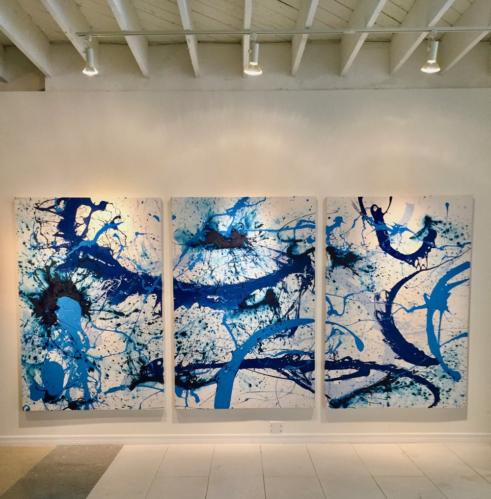 """UNTITLED""   Triptych   12ft X 6ft  Acrylic on Canvas   AVAILABLE"