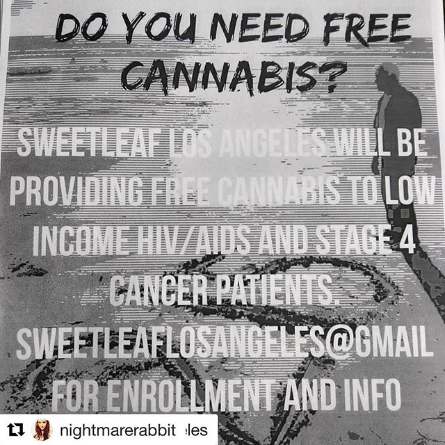 #Repost @nightmarerabbit (@get_repost) ・・・ Please share! I know a lot of you could really use some help right now 🙏 thank you @sweetleaflosangeles keeping going! 💚🌱😇 #Repost @sweetleaflosangeles with @get_repost ・・・ If you want to print some flyers to post up or pass out send an email to sweetleaflosangeles@gmail.com the file is full color. I just wanted to see how the black and white printed for this batch. #cannabiscommunity #dtla#inglewood #LA#cannabiscures#leimertpark #westadamsdistrict