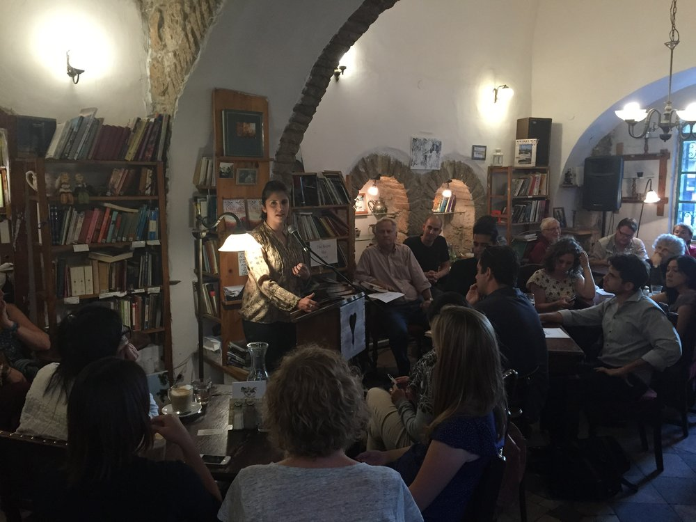 Tmol Shilshom Book Event, Jerusalem