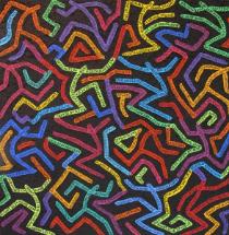 """Peinture """"Un peu de couleur dans la vie - Danseurs""""  Isabelle Visse - http://www.isabellevisse.be"""