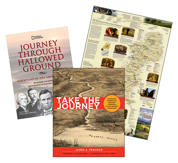 Register now to be entered to win one of ten History Jam book sets that include a signed copy of Take the Journey, a copy of The Journey Through Hallowed Ground: Birthplace of the American Ideal, and a National Geographic's Journey Through Hallowed Ground Map (an $80+ value).