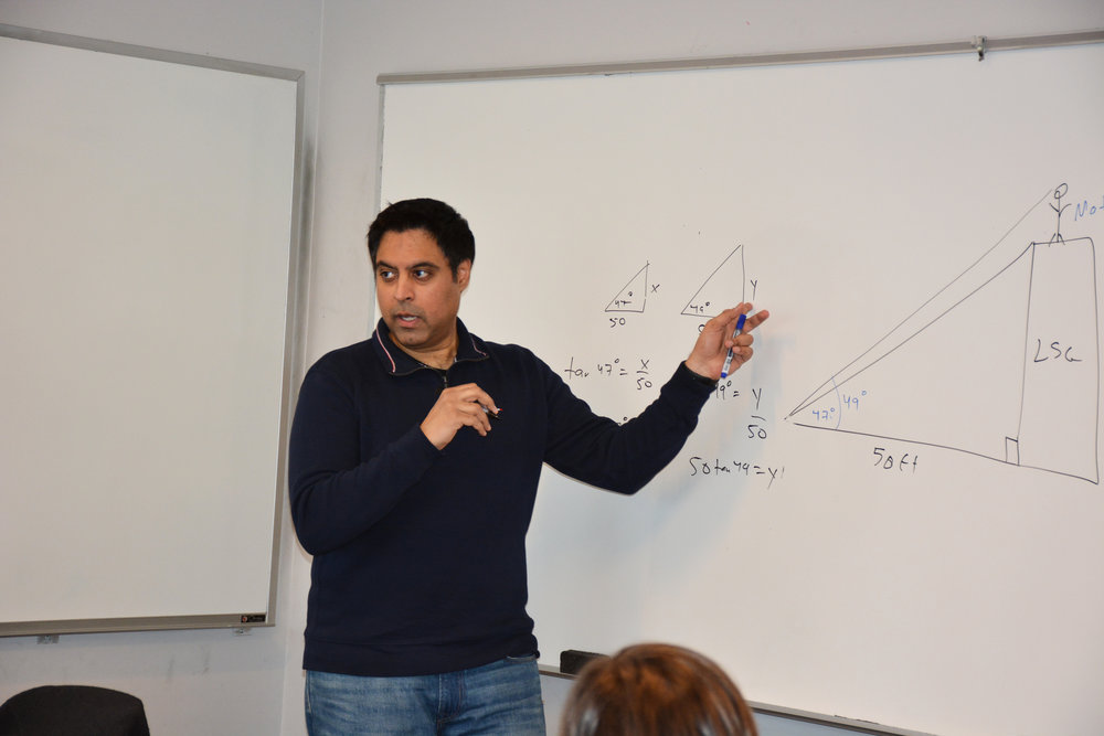 "A lifelong mathematician with strong communications skills, Vinay Bhawnani has tutored since 2007 and has worked with more than 2,000 students in middle school, high school, college and beyond. His all-inclusive expertise ranges from Algebra, Geometry, and Trigonometry to Pre-calculus, Calculus and SAT prep. Vinay presents math in an innovative and engaging fashion that most students simply are not exposed to in a traditional classroom setting. Rather than distributing handouts or lecturing from a textbook, he strives to make his lessons both interesting and applicable to the real world. Indeed, for many of his students, math becomes ""fun"" for the first time.  A 1999 graduate of the University of Pennsylvania, Vinay majored in Bioengineering and minored in chemistry and mathematics. He also took classes at the prestigious Wharton School of Business. In high school, he scored a ""perfect"" score (800) on the math sections of the PSAT and SAT, as well as the Math Level II Subject Test.  His career has included technical consulting work in New York City and an eight-year position with AOL where he managed billing systems. Locally, he worked as the Technical Director for a startup company and until early 2015, was Director of Product Management and the Research and Development head for a local software development company. Since then, Vinay has dedicated his time to Loudoun Test Prep, and will now be teaching select mathematics courses at LSG as well."