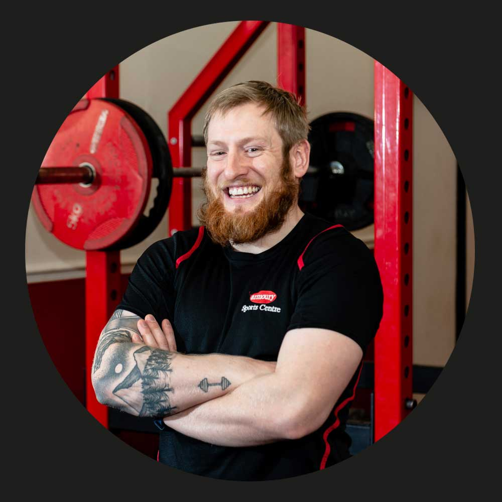 AARON - Aaron has been working at the Armoury for over a year, he is a newly qualified PT and looking to build experience working in the fitness industry.Aaron is happy to help with any questions you may have.