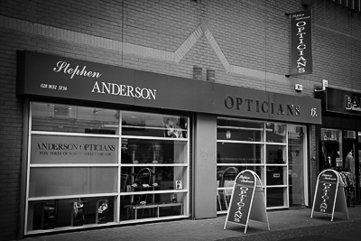 Anderson Opticians Shop Front