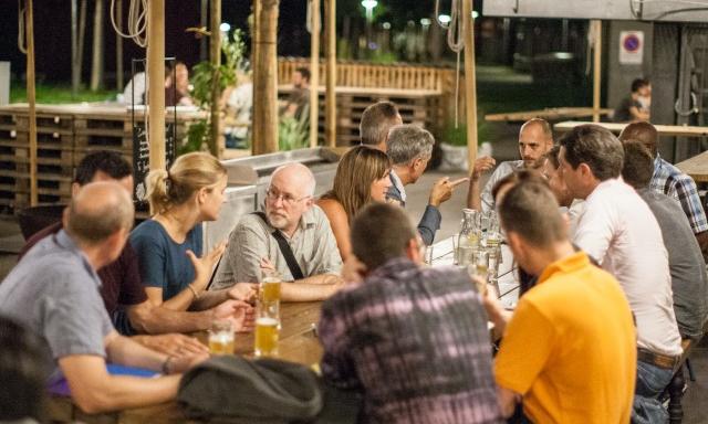 Die Nachtung 2015 beim Volta Bräu. Foto: Nicolas Gysin