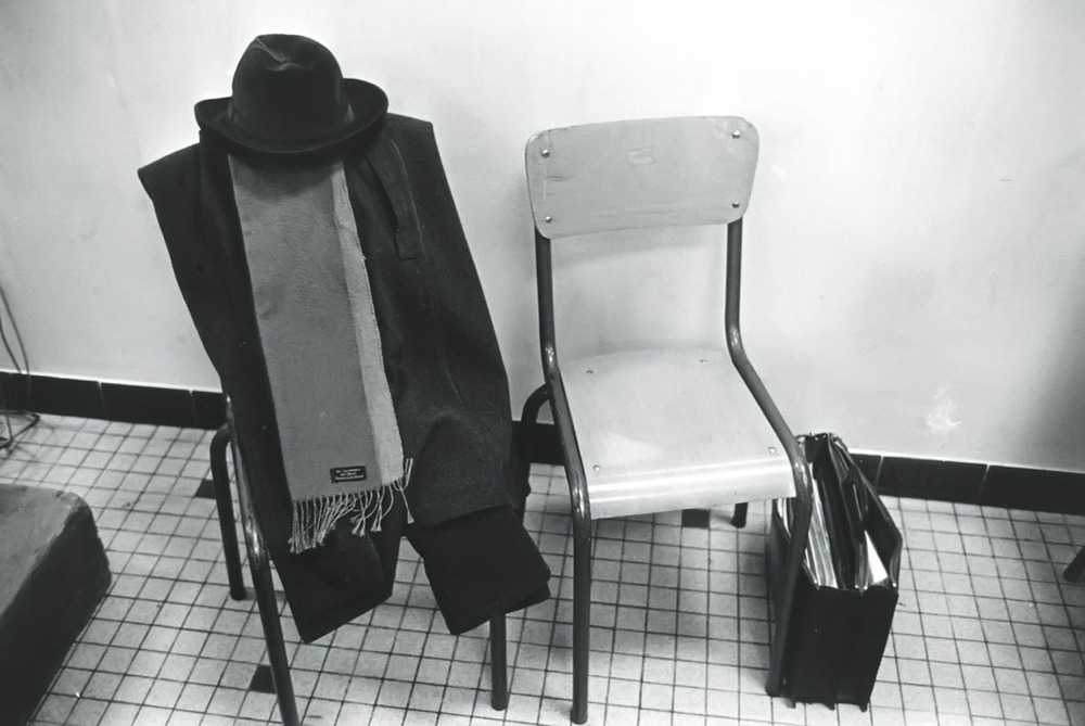 His personal belongings during a political meeting.