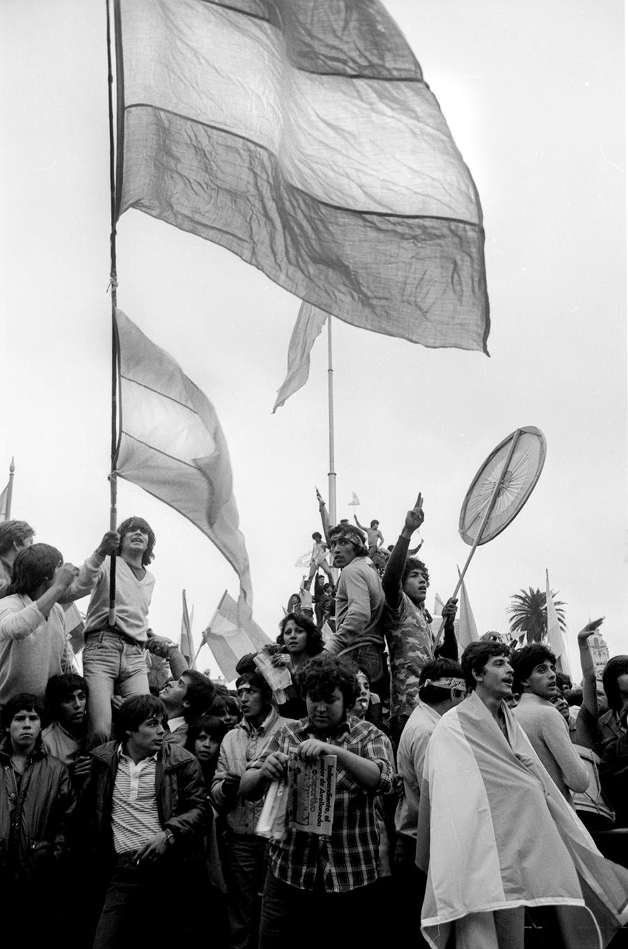 Demonstration during Malvinas War