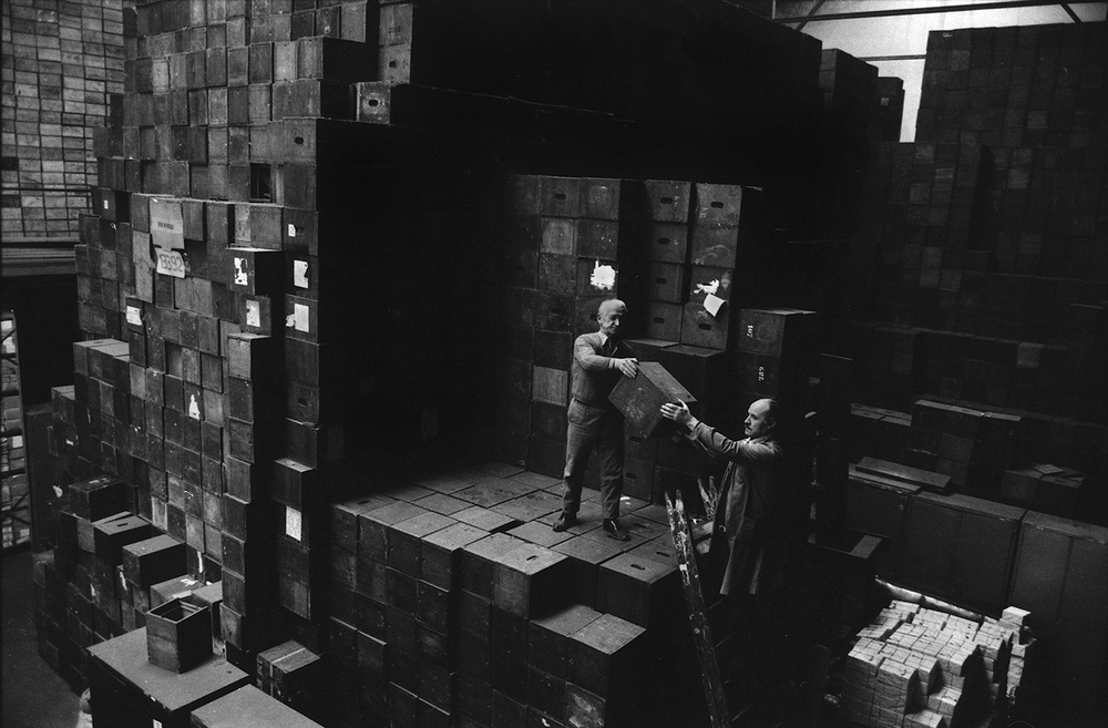 Retrieving ballot boxes for the first general election after the military dictatorship.Argentina, 1983