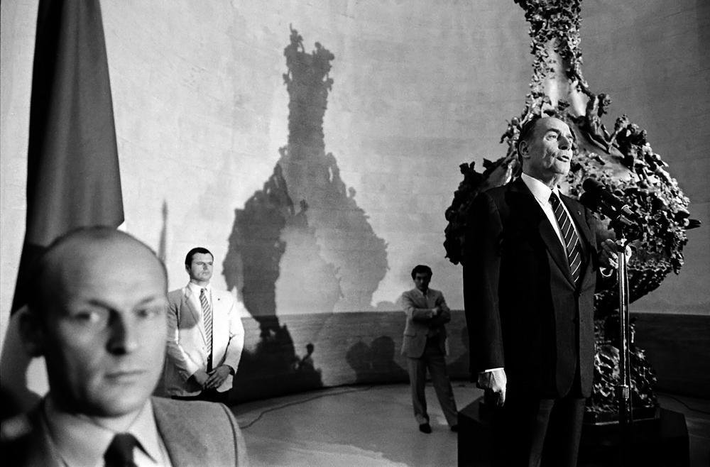 President MItterrand in San Fransisco.