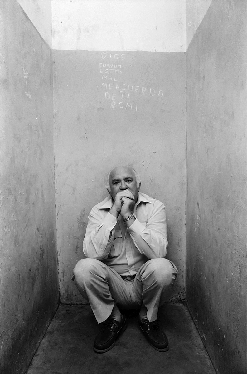 Journalist Jacobo Timmerman in the cell where he was detained. Buenos Aires,