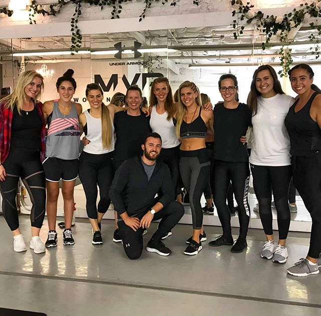 """""""3 cities, 6 events, 1 awesome #sqUAd."""" - @noonanve I ❤ #TEAMUA!!!!! Been an unforgettable #UAMVP Canadian tour with @underarmourca @sportchek @sylvietetrault @jenniferrochon_jro and this BOSS *SS CREW. Can't wait to keep building the fire we started and light up the sky togetherrrrrrrrrrr!!!!💋🔥🔥🔥 #aintnobodyfresherthanmyclique #underarmourca #CANADAWILL #UAfam #jBeazy #GinjaNinja #TheRoShow"""