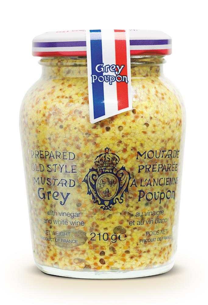 Grey Poupon Grovkornig    ANVÄNDNING  Passar bra till isterband, stuvad potatis, blomkål, kryddsmör mm.