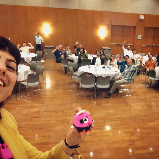 Yesterday I had the pleasure of giving a talk at UT Austin to a room full of fun and energetic people who made the stage feel like home 😀 As I promised, here is the selfie we took together (cut half of you and half of me, so we're even ;) ・・・・・・・・・・・・・・・ #Yoomix #MIXaYoomix #MyYoomix #toystagram #toys #3Dprinting #3D #3Dprint #3Dprinter #solidworks #3Ddesign #edtech #startup #games #gamedesign #parents #children #learning #play #creative #awesome #makers #entrepreneur #smartoys #Adventure #Austin #Texas #university