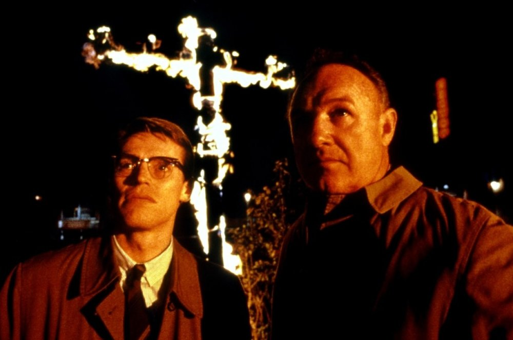 "Willem Dafoe and Gene Hackman in ""Mississippi Burning"" (Orion Pictures, 1988)"