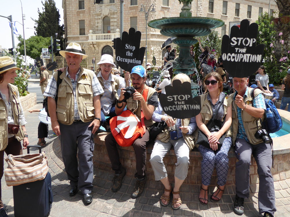 International Ecumenical Accompaniers at the Women in Black demonstration in Jerusalem – 3rd June 2016.