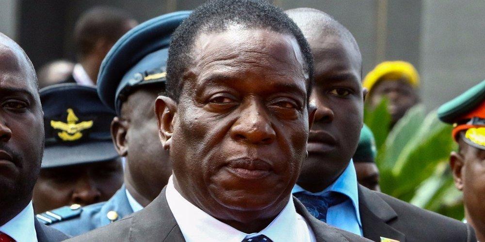 Image: Emmerson Mnangagwa, President of Zimbabwe. (  Photo credit:  Jekesai Njikizana / AFP)