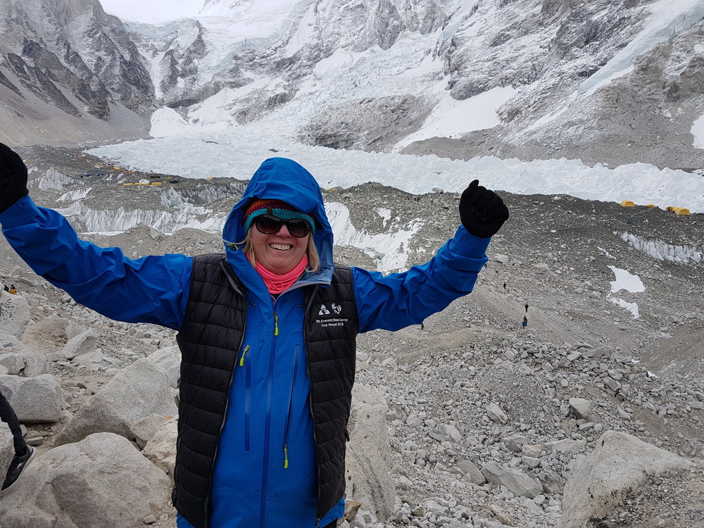 Pamela reaches Base Camp!