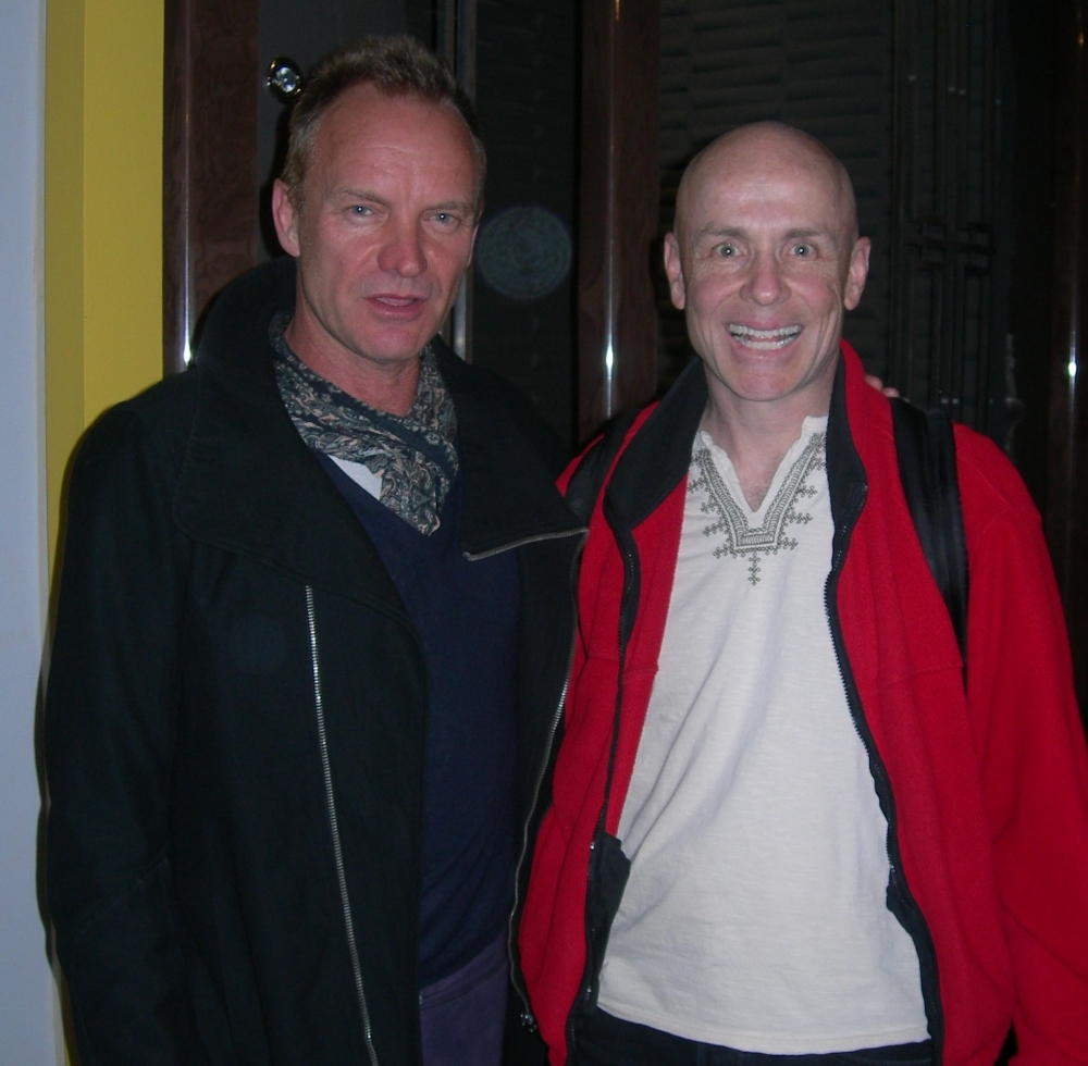 At the studio with Sting