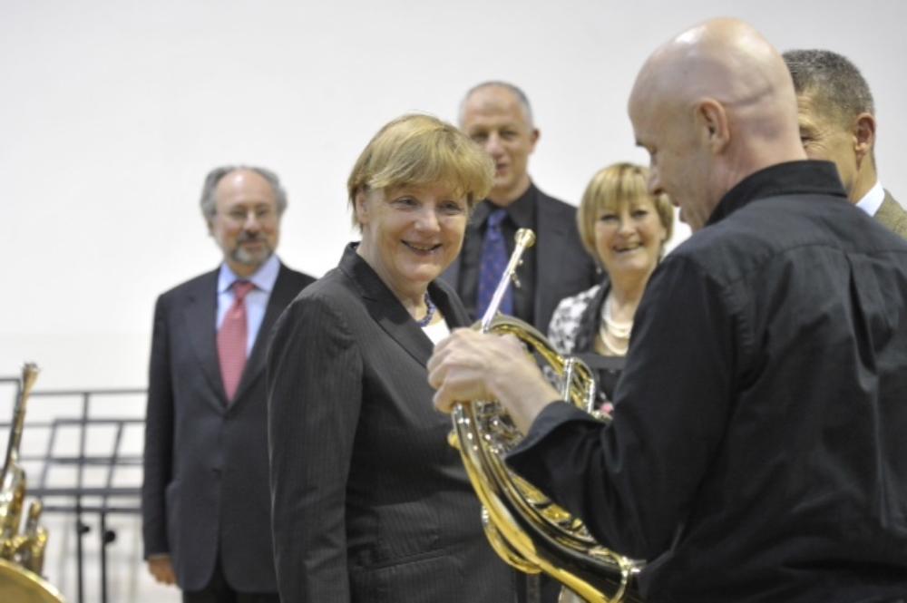 Backstage with Chancellor Angela Merkel