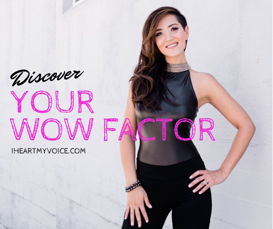 Discover your WOW factor as a singer!