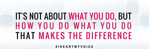 Stay engaged with your mind and body during your vocal practice!