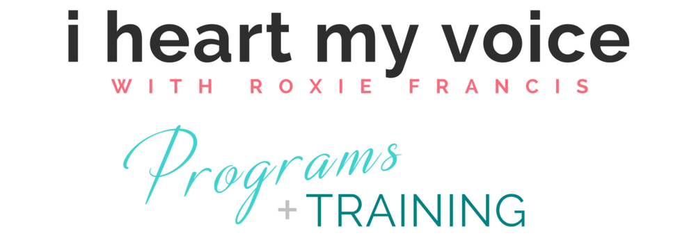 Vocal coaching programs at I Heart My Voice