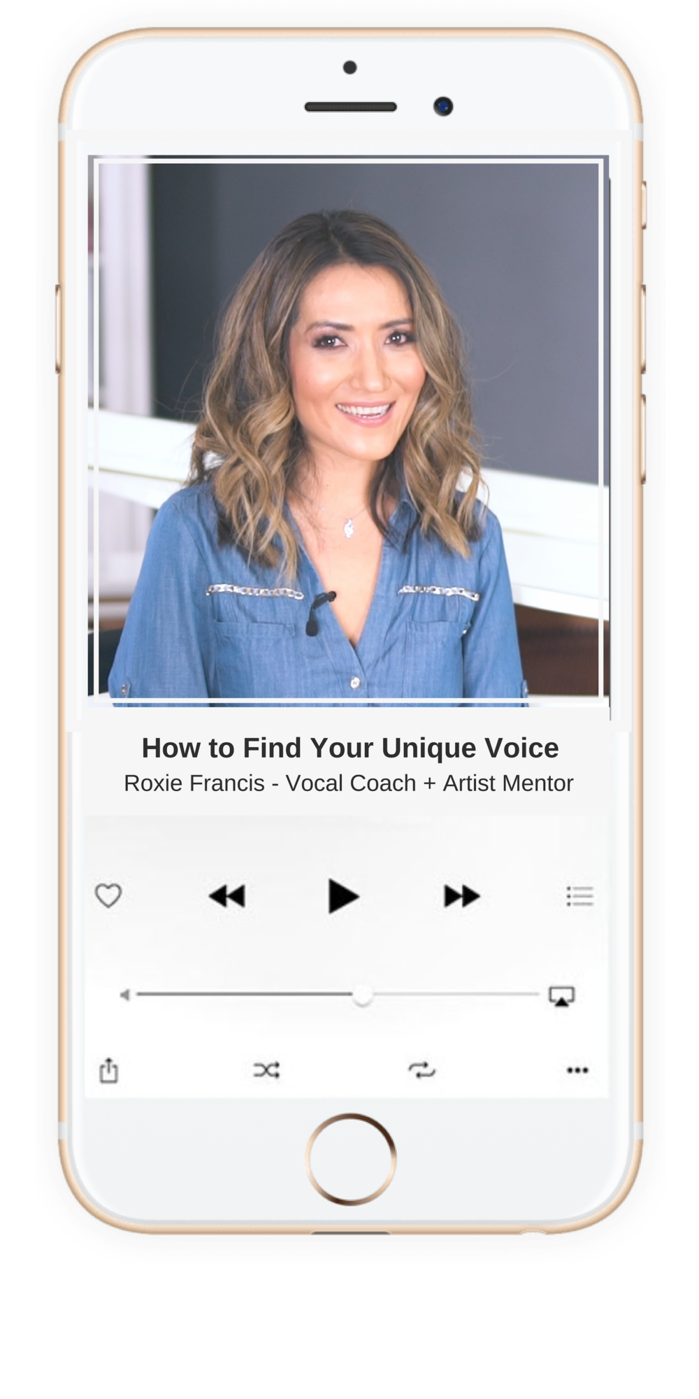 Find Your Unique Voice, by Roxie Francis at IHMV