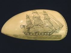 Scrimshaw jewelry, carved in ivory