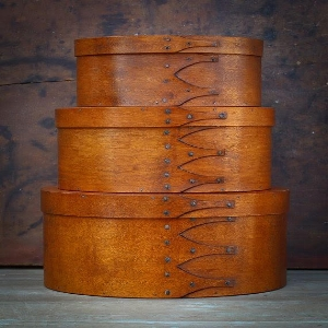 4. Shaker bentwood boxes with wade smith.